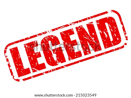 Legend red stamp text on white - stock vector