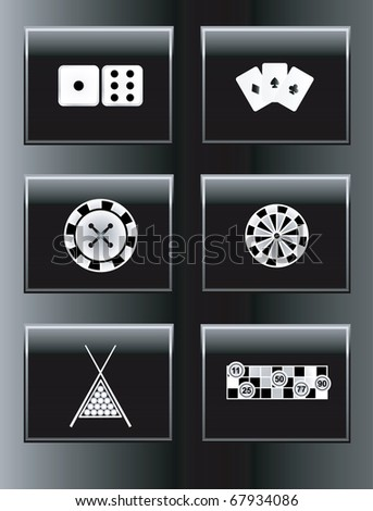 Leisure games icons set. Vector illustration. - stock vector