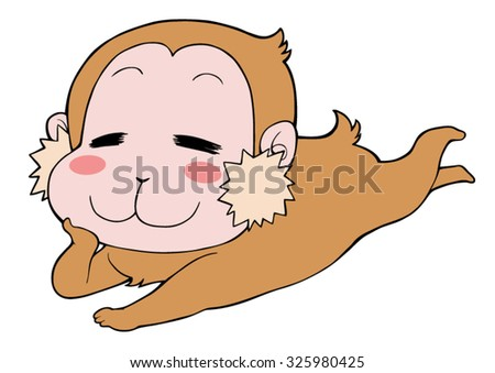 Leisurely Japanese monkey