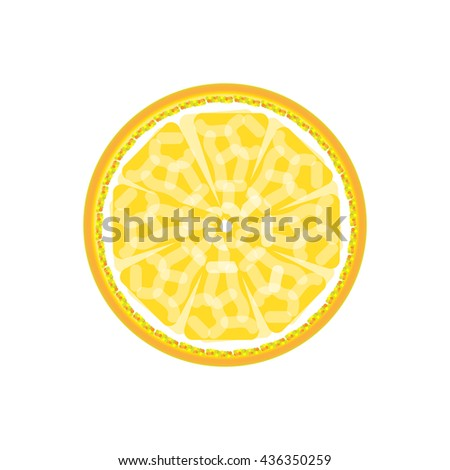 Lemon abstract sign pattern. Juicy fruit graphic. Background design. Modern spring and summer stylish abstract illustration. Template for prints decoration. Vector image.