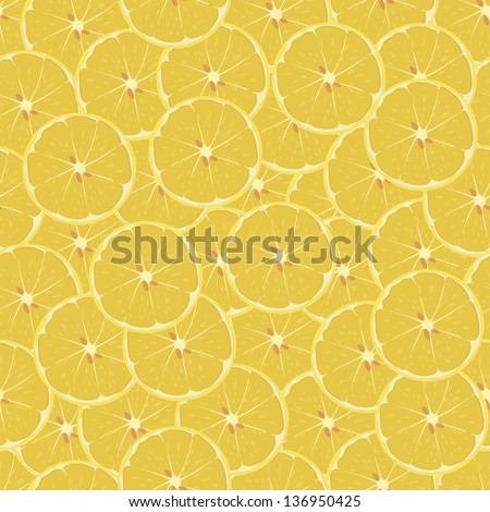 Lemon, citrus. Seamless texture. vector illustration