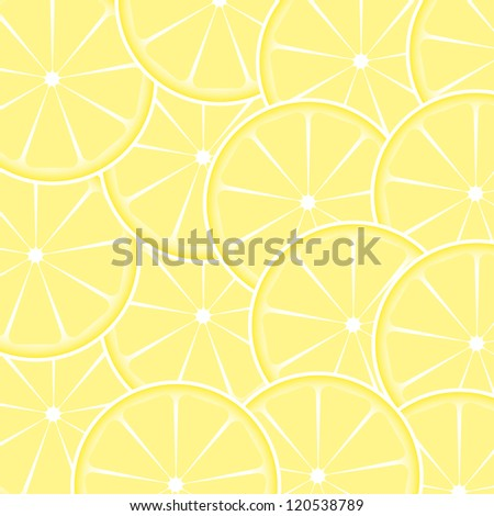 Lemon fruit abstract background vector illustration