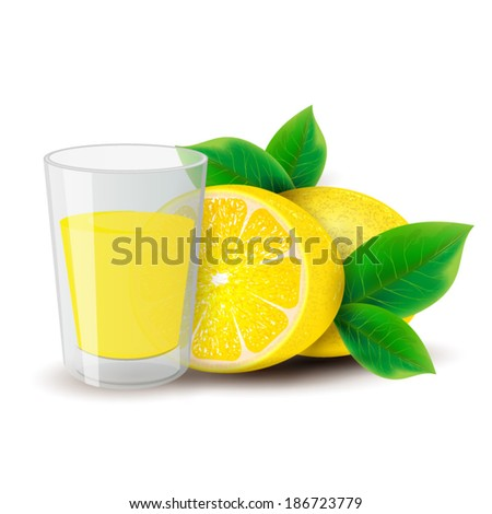 Lemon Juice - stock vector