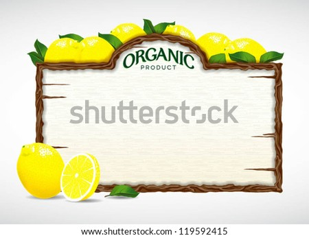 lemon menu board - stock vector