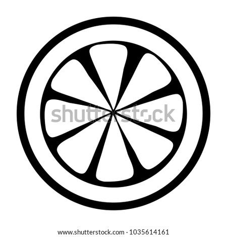 Lemon Slice Icon Image