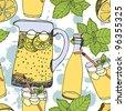 Lemonade background - stock vector