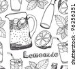 Lemonade seamless pattern - stock photo