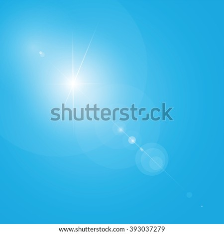 lens flare, transparent, layered, easy to edit - stock vector