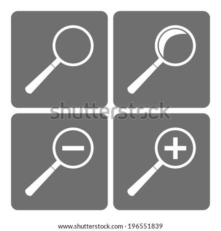 Lens, magnifying glass - stock vector