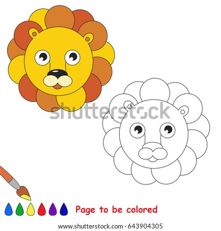 Leo Head To Be Colored The Coloring Book For Preschool Kids With Easy Educational Gaming