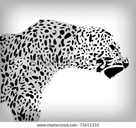 Leopard abstract background - stock vector
