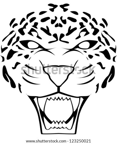how to draw a snow leopard face