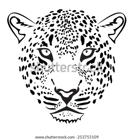 Leopard Head. illustration vector - stock vector