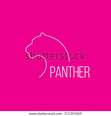 Leopard line logo. wild animal logo with minimalist concept.