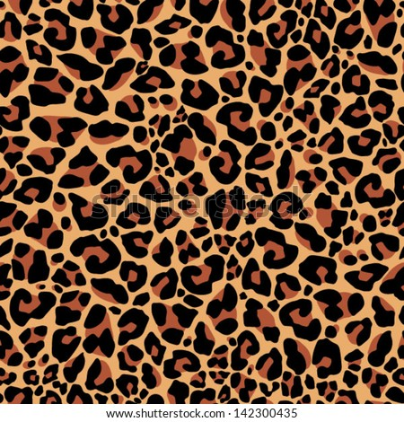 Leopard pattern - stock vector