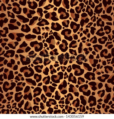 Leopard pattern, repeating background - stock vector