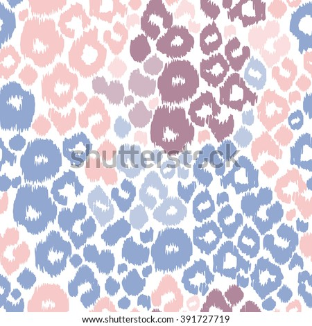 Leopard print. Animal patterns color trend 2016. Fashion colour animal prints seamless background. - stock vector