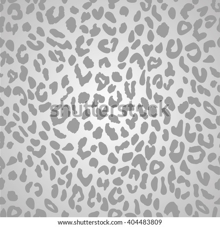 LEOPARD PRINT GREY SCALE SEAMLESS PATTERN - stock vector
