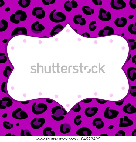 Leopard retro frame for your text - stock vector