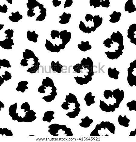 Leopard seamless pattern.Leopard skin. Vector background. - stock vector