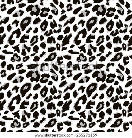 Leopard skin pattern. - stock vector