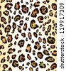 Leopard skin seamless pattern - stock vector