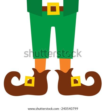 Leprechaun feet, St patrick's day, vector illustration - stock vector