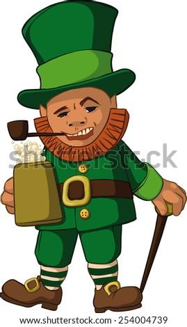 Cute Cartoon Angry Leprechaun Stock Vector 111200603 - Shutterstock