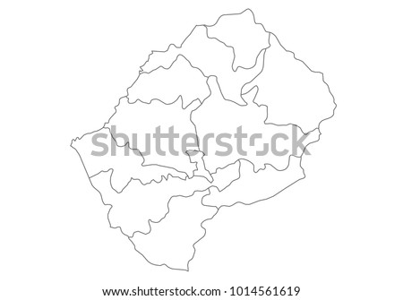Lesotho Region Map Stock Images RoyaltyFree Images Vectors - Lesotho maps with countries
