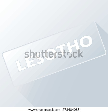 Lesotho unique button for any design. Vector illustration