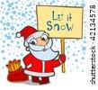 Let it snow! - stock vector