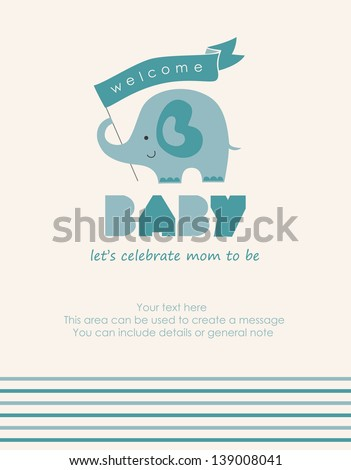 let's celebrate mom to be card. vector illustration - stock vector