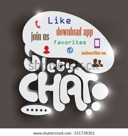 Let's Chat in today's world - stock vector