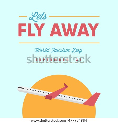 lets fly away concept world tourism stock vector royalty free