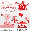 let's go to circus park! - stock vector