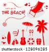 let's go to the beach! - stock