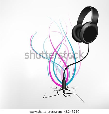 let's rock. Abstract music composition. - stock vector