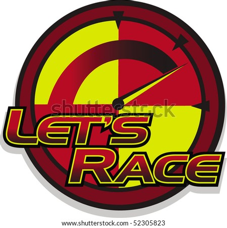 lets race - stock vector