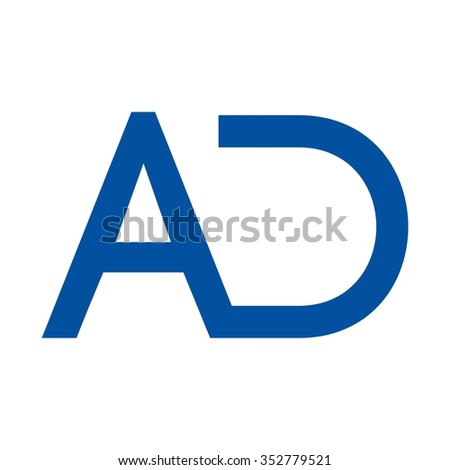 letter a and d logo vector