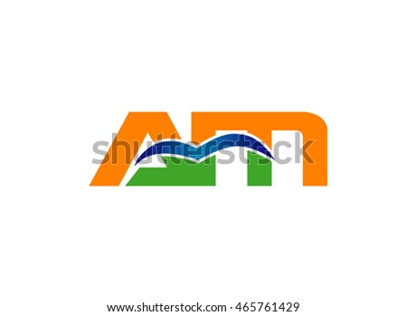 Letter a and M logo vector