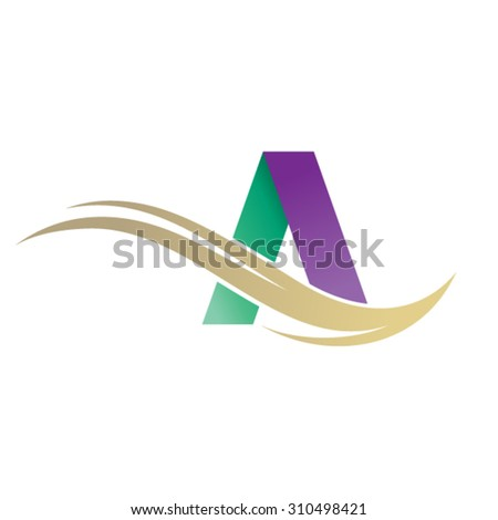 Letter A design  - stock vector