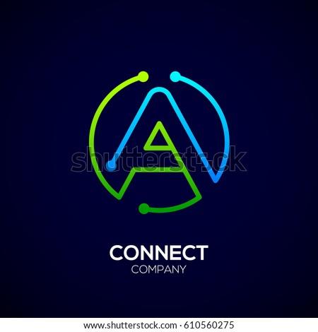 M Rank Letter A Logo Circle Shape