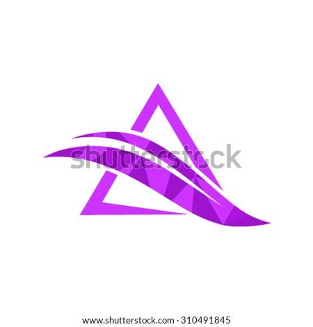 Letter A logo design - stock vector