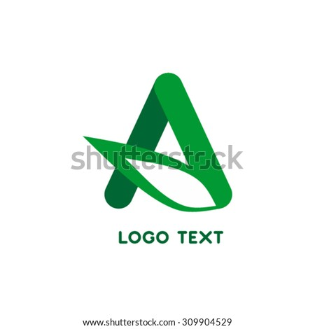 Letter A logo design template. Energy symbol icon. - stock vector