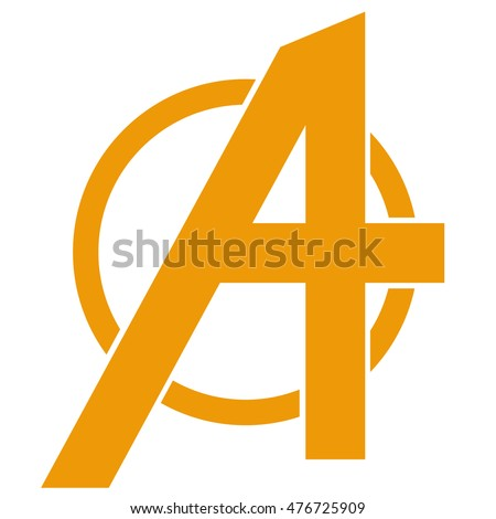 letter A. Logo for registration of corporate identity.