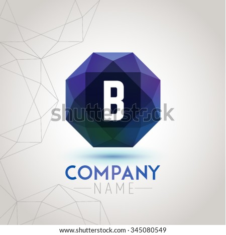 Letter B Alphabet Logo Icon Design Template Element. Vector Color Sign Easy Editable for Your Design. - stock vector