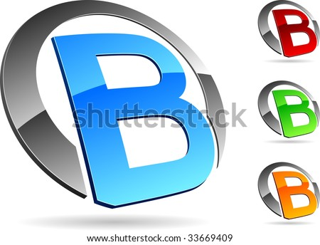 stock-vector-letter-b-d-vector-icons-such-logos-33669409  D Letter B Template on cut out, printable box,
