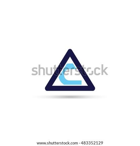 letter t triangle logo icon stock vector 483352171