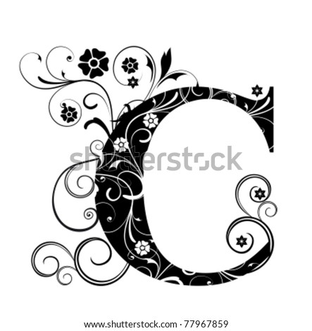 Letter Capital C - stock vector