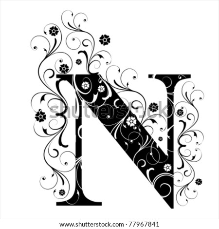 Letter Capital N - stock vector